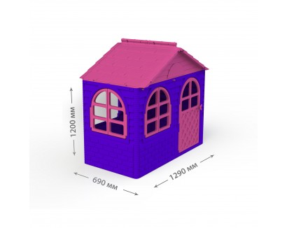 Child's  house with curtain rod and curtains DOLONI-TOYS 02550/10