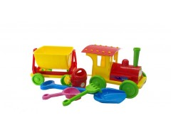 """""""TRAIN-CONSTRUCTOR"""" WITH SAND SET 013222/03 RED"""