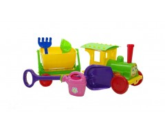 """""""TRAIN-CONSTRUCTOR"""" WITH SAND SET 013222/02 SALAD"""