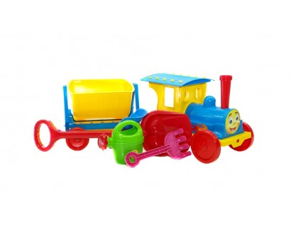 """TRAIN-CONSTRUCTOR"" WITH SAND PACK 013222/01 BLUE"