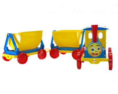 TRAIN-DESIGNER 2 TRAILERS 013118/1 BLUE